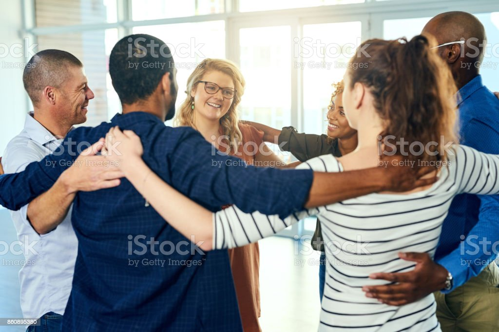 Friendship is like a circle stock photo