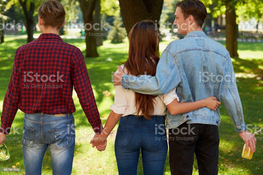 Freundschaft Liebe Eifersucht Ehebruch Polygamie Konzept – Foto