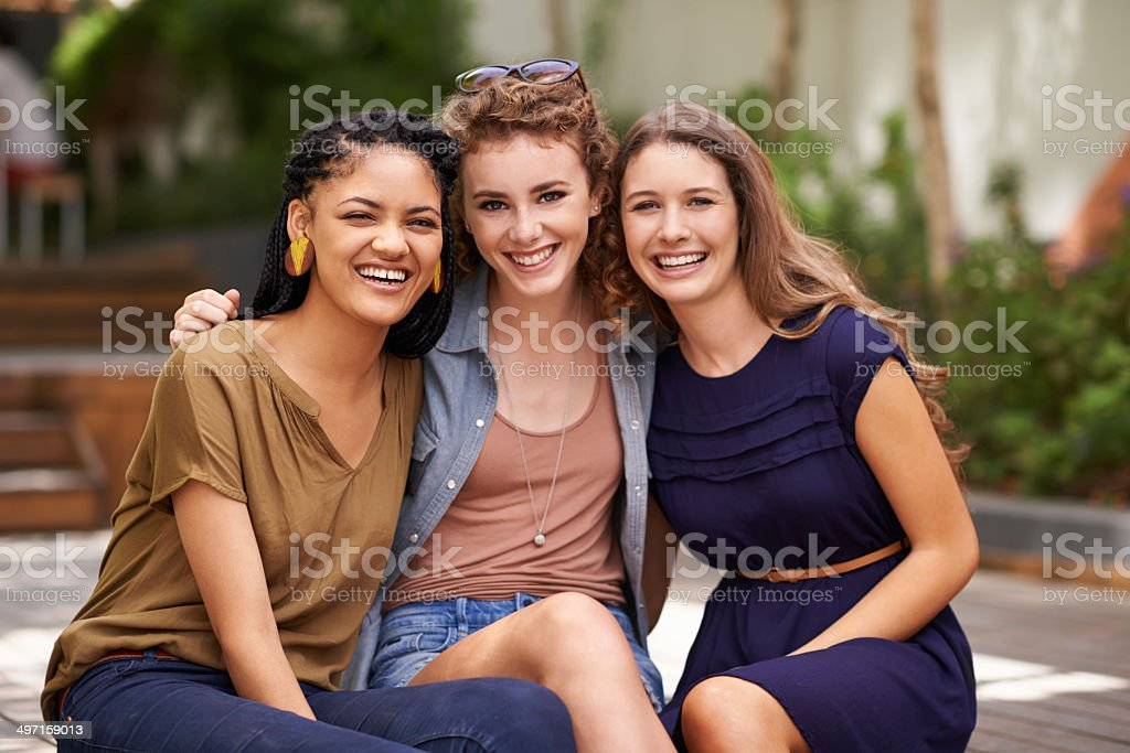 Friendship means everything to us stock photo