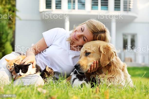 Friendship of cheerful woman with pets dog and kittens picture id183839120?b=1&k=6&m=183839120&s=612x612&h=5sztjoh2qmaotpbaxrz55n8xmdgzzxwuew30ckf5qt8=