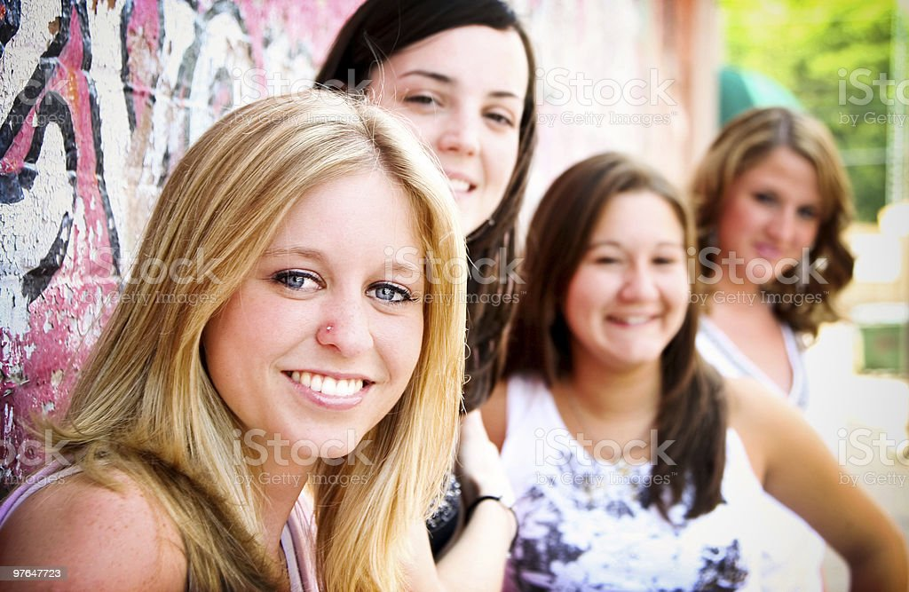 friendship portraits royalty-free stock photo