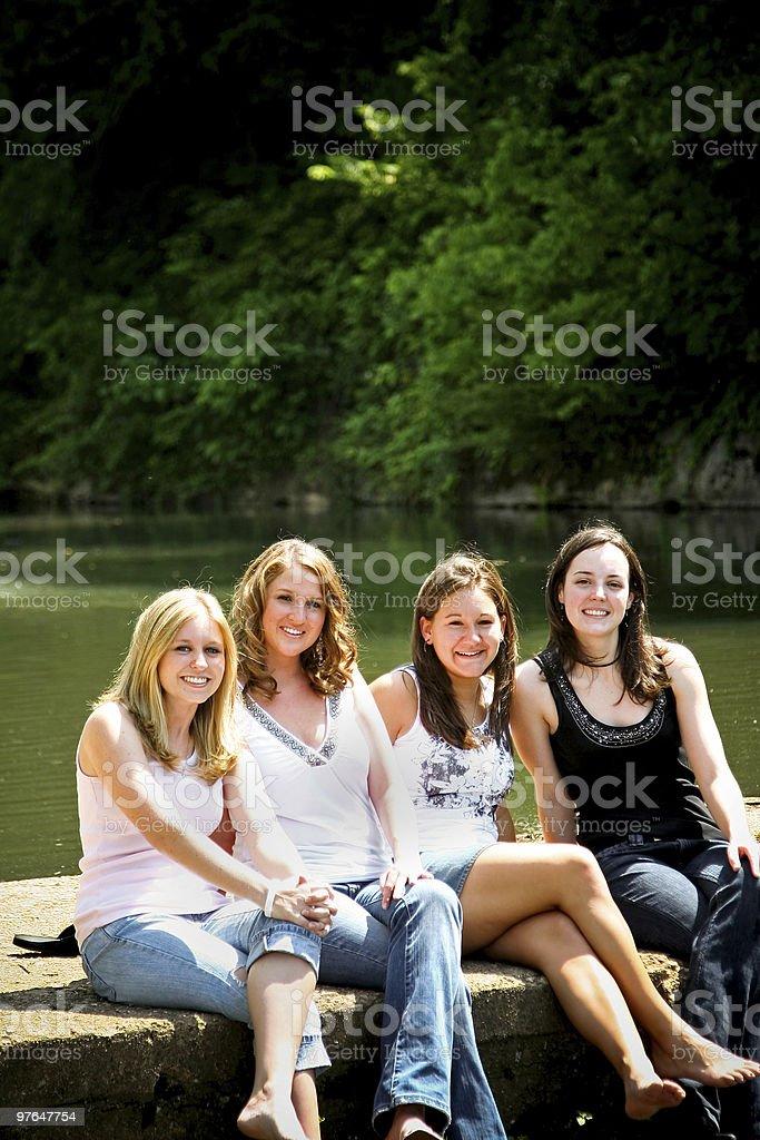friendship portraits royalty-free stock photo