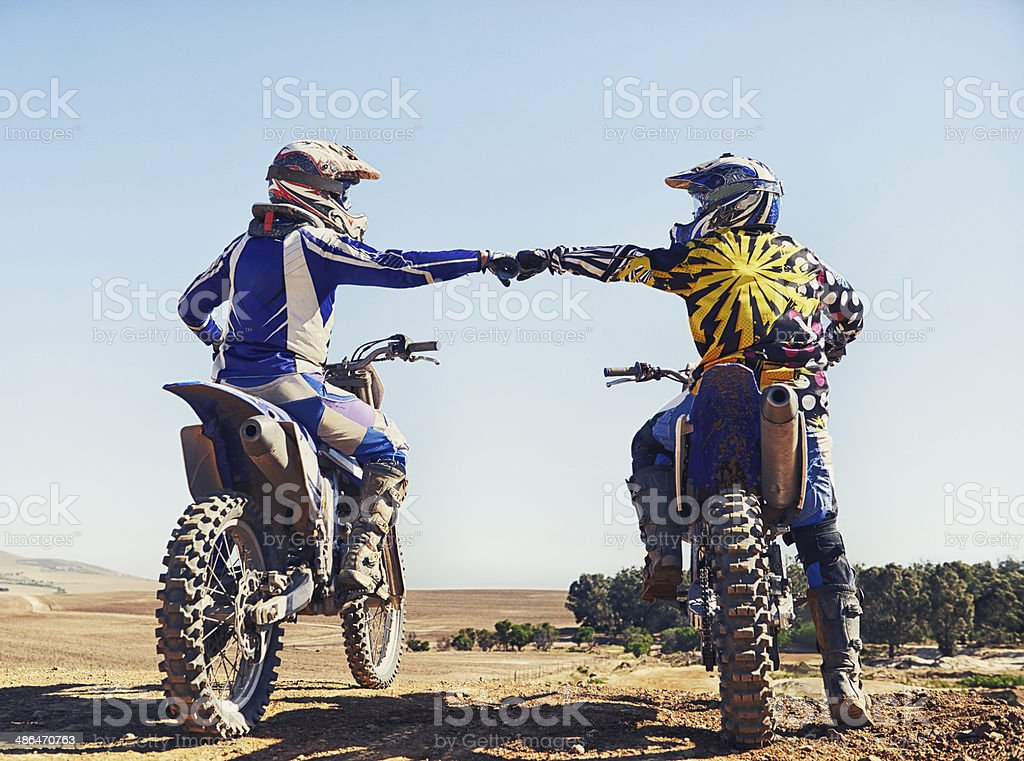 Friendship, respect and a fierce rivalry stock photo