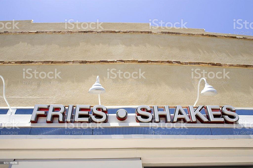 Fries & Shakes royalty-free stock photo