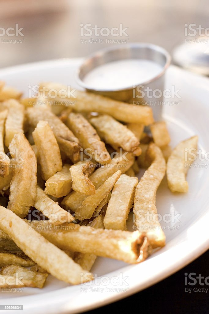 Fries and a Side of Ranch royalty-free stock photo