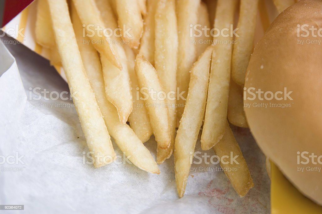 Fries and Burger royalty-free stock photo