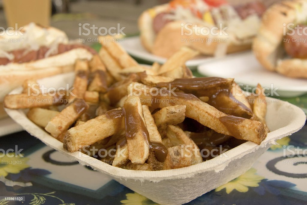 Fries with Brown Gravy royalty-free stock photo