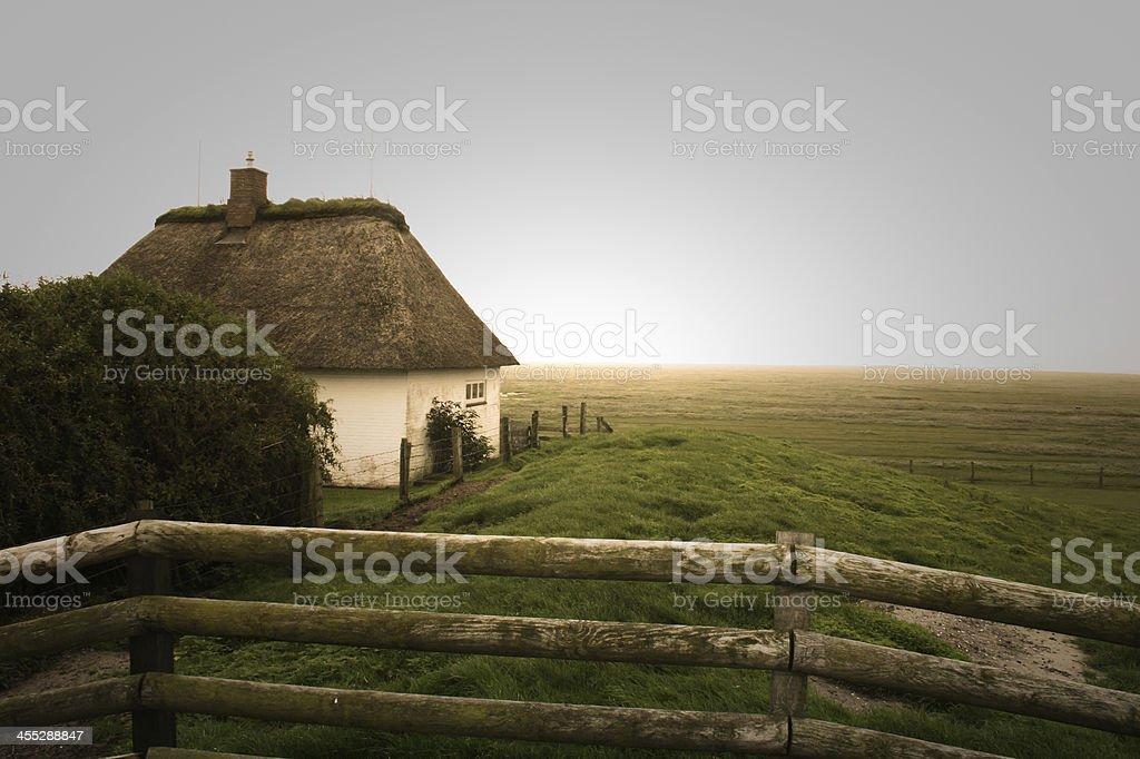 Friesisches Häuschen stock photo