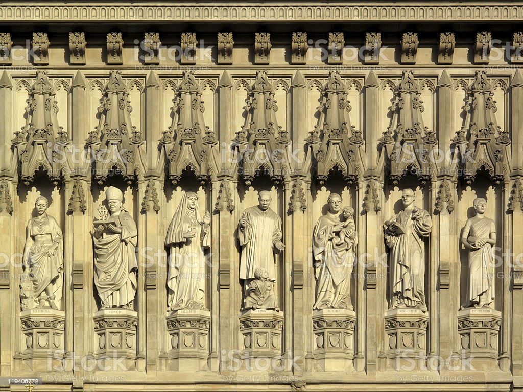 Frieze Of Martyrs, Westminster Abbey stock photo
