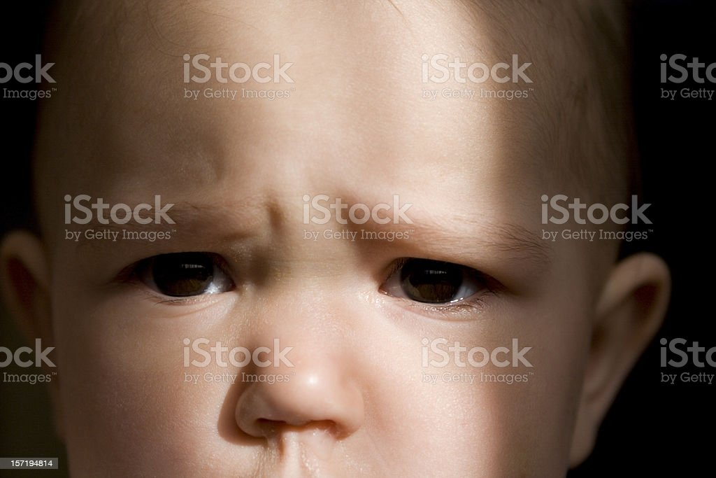 Frightened child royalty-free stock photo