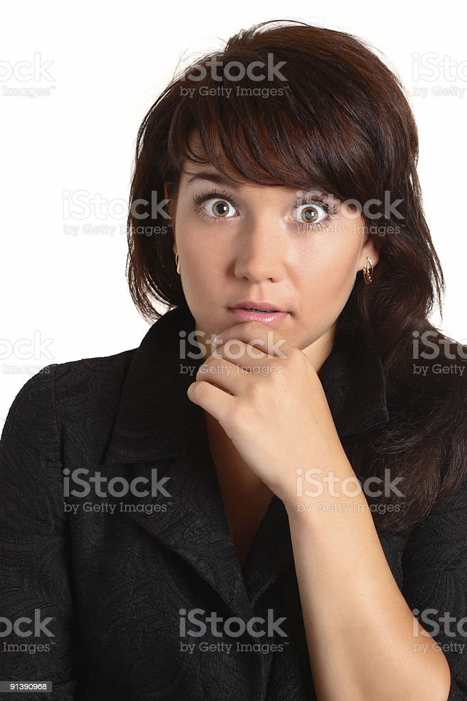 frightened girl royalty-free stock photo