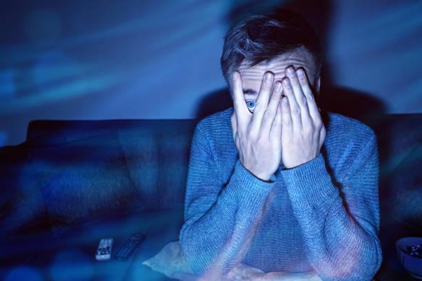przestraszony człowiek - horror zdjęcia i obrazy z banku zdjęć
