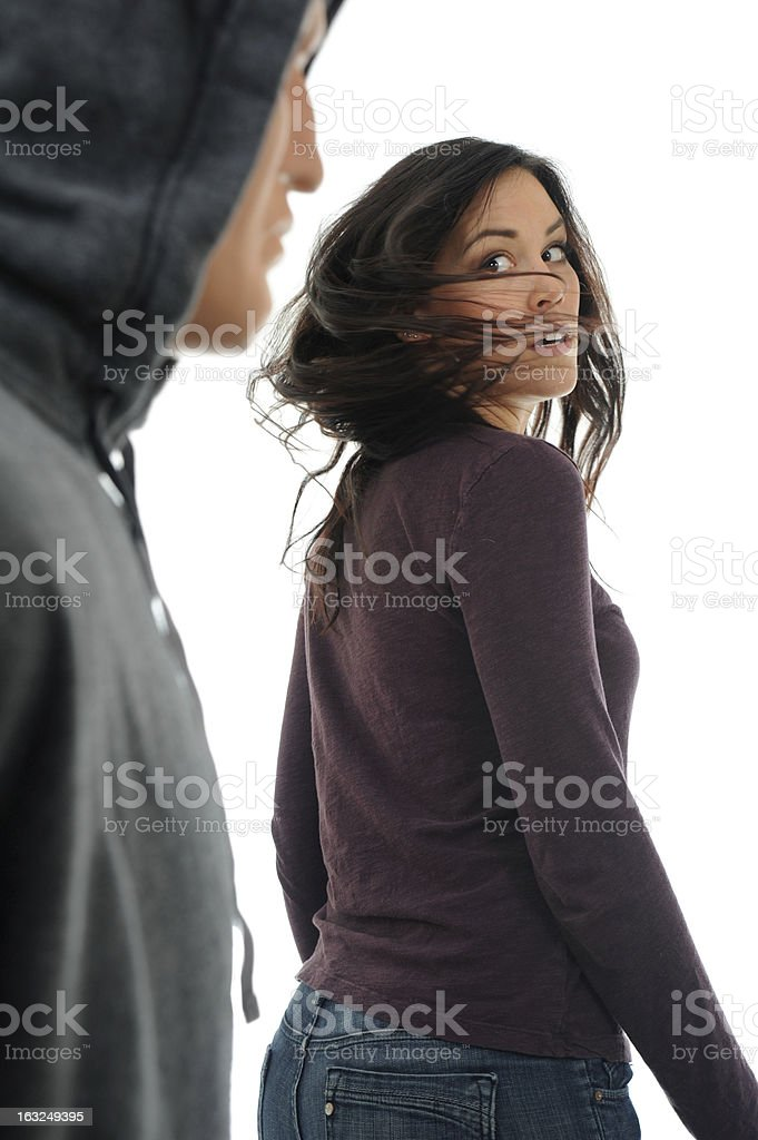 Frightened stock photo