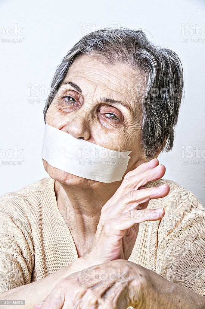 Frightened Senior Woman Stock Photo - Download Image Now ...