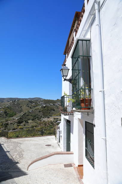 frigiliana scenic village in andalucia, spain - pejft stock photos and pictures