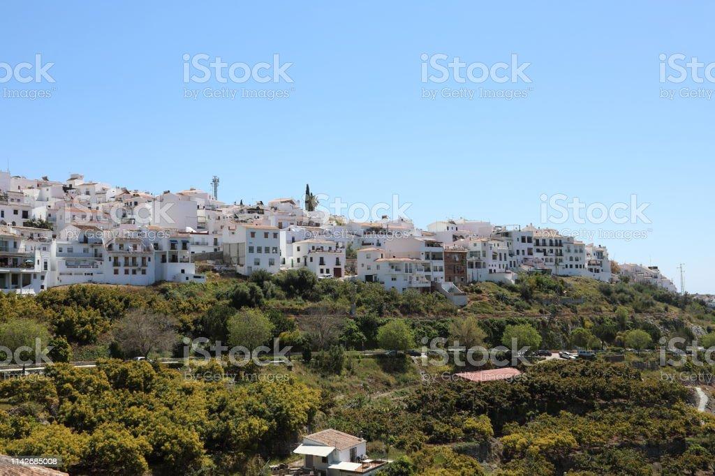 Frigiliana scenic village in Andalucia, Spain stock photo