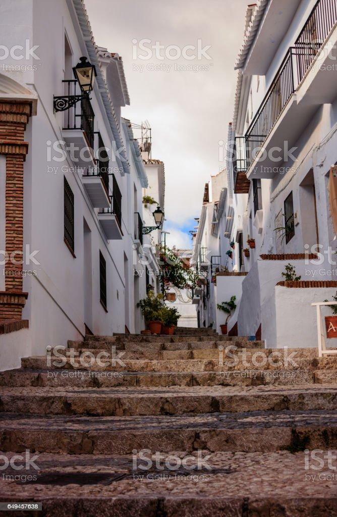 Frigiliana Village in Malaga, Spain stock photo