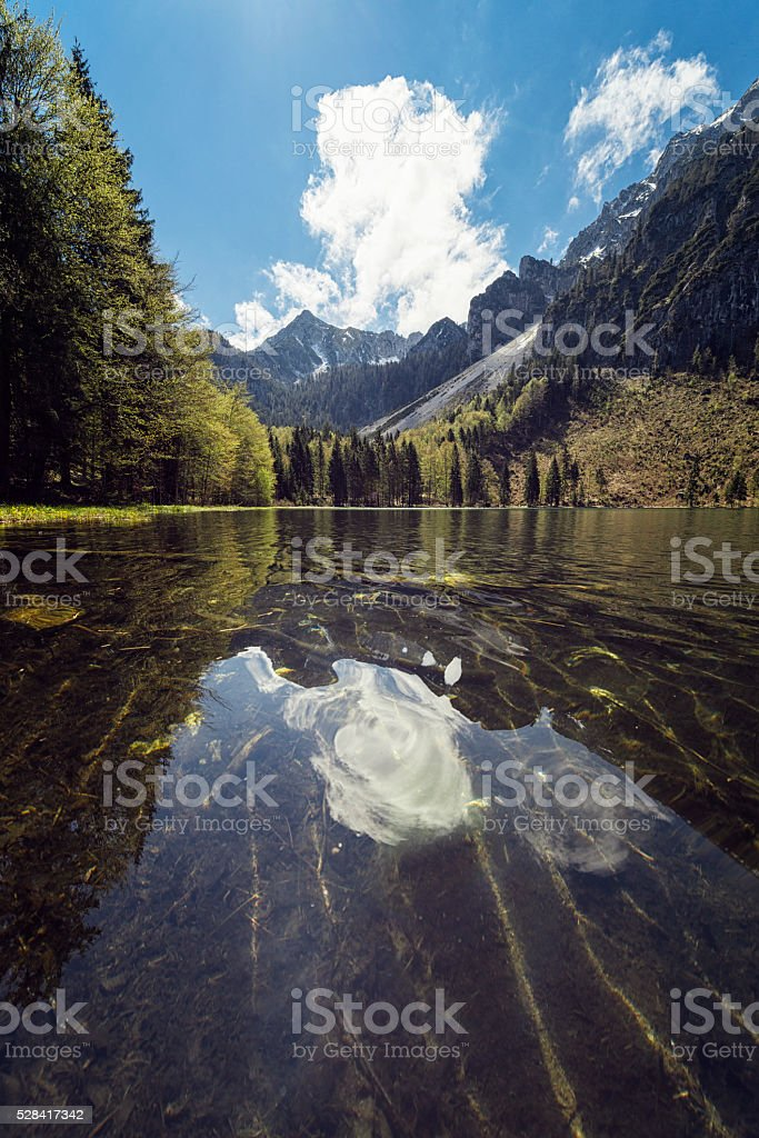 Frillensee in bavaria stock photo