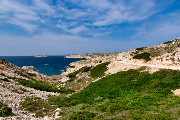 Frioul Islands one of the district in Marseille stock photo