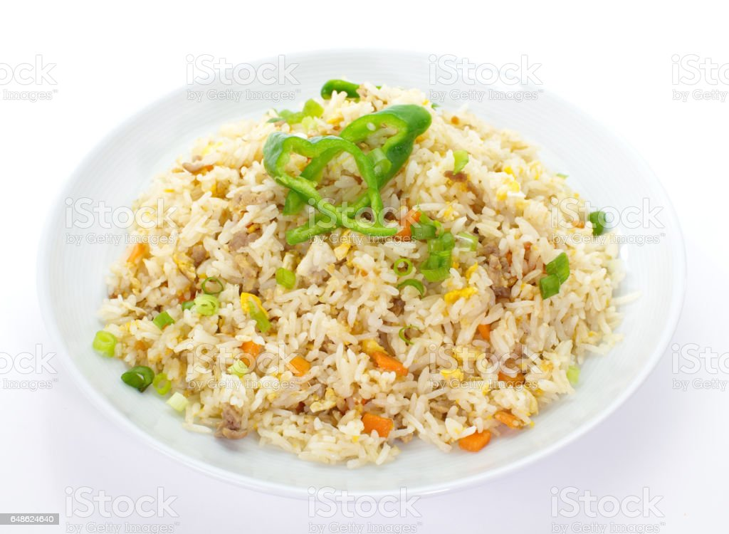 Frird rice stock photo