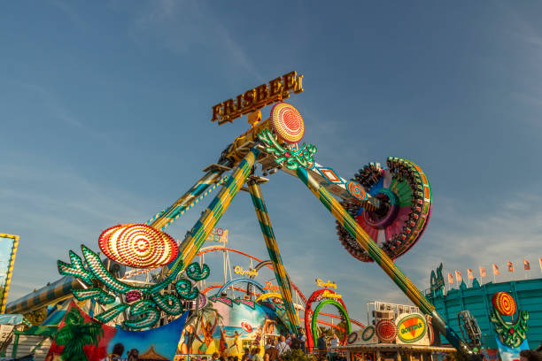 Frisbee-lustige Fahrt auf dem Oktoberfest in München, 2016 – Foto