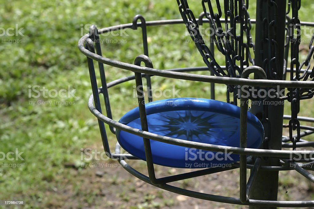 Frisbee Golf Hole stock photo