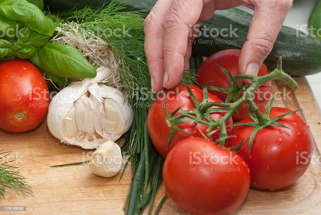 Frisches Gemüse in der Küche royalty-free stock photo