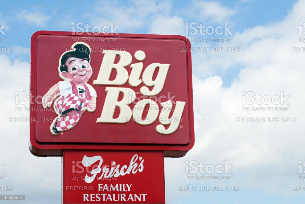 Frisch's Big Boy Sign stock photo