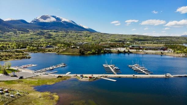 Frisco Marina, Frisco Colorado stock photo