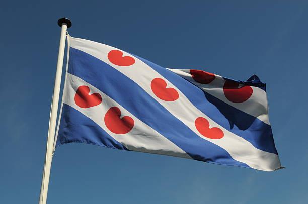 Frisian flag, friesland, the netherlands stock photo