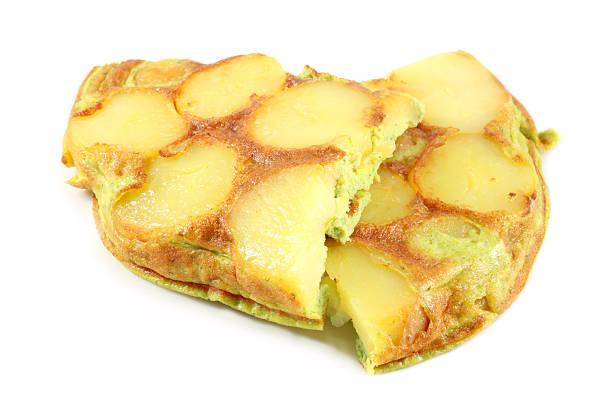 frittata with potatoes - kartoffel frittata stock-fotos und bilder