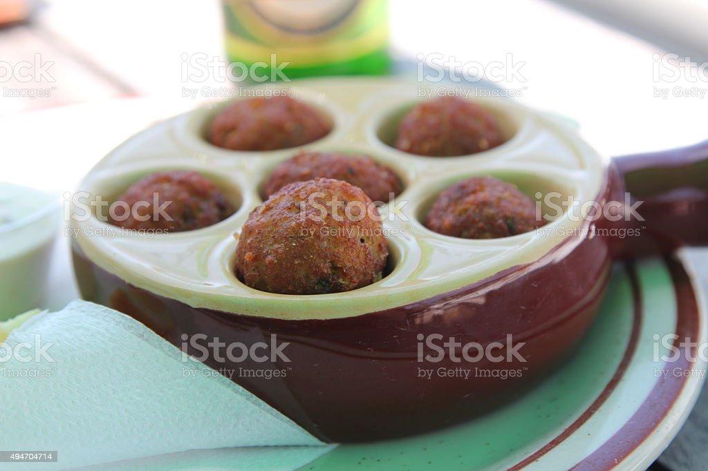 Fritter stock photo