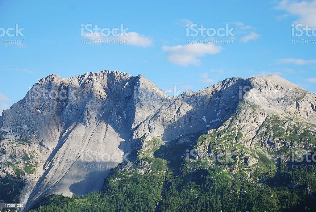 Friulian alpes dolomíticos foto de stock libre de derechos