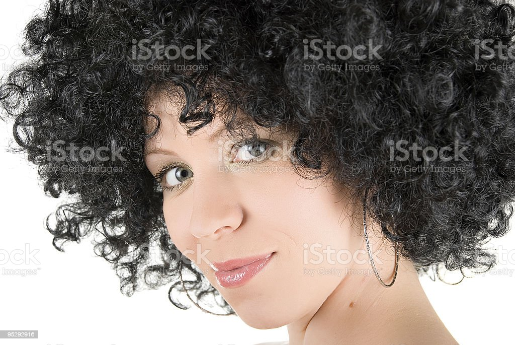 frizzy woman royalty-free stock photo