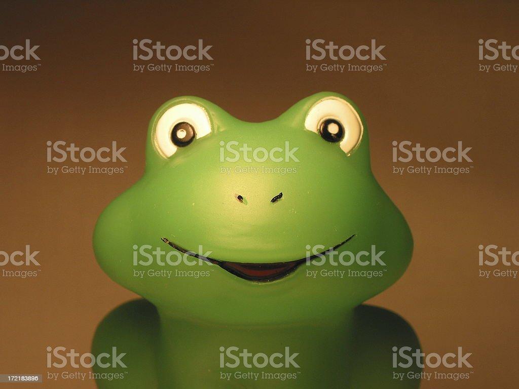 frog bathtub stopper stock photo