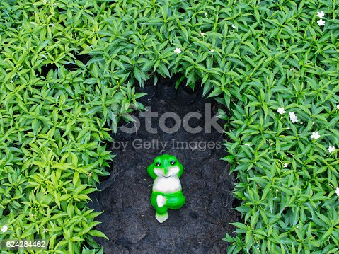 172214590 istock photo Frog Doll Relaxing 624284462