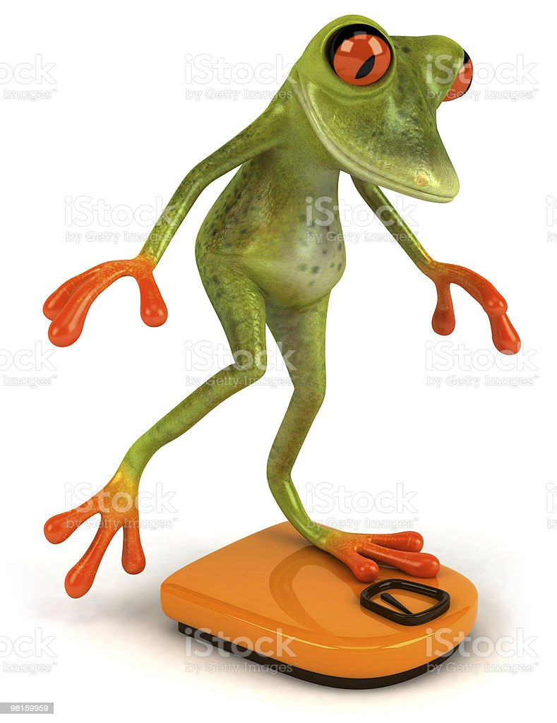 Frog on a diet royalty-free stock photo