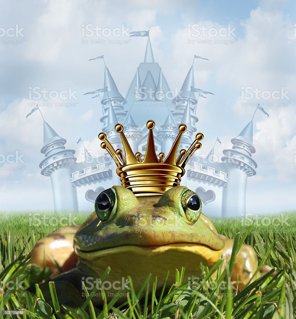 Frog Prince Castle concept stock photo