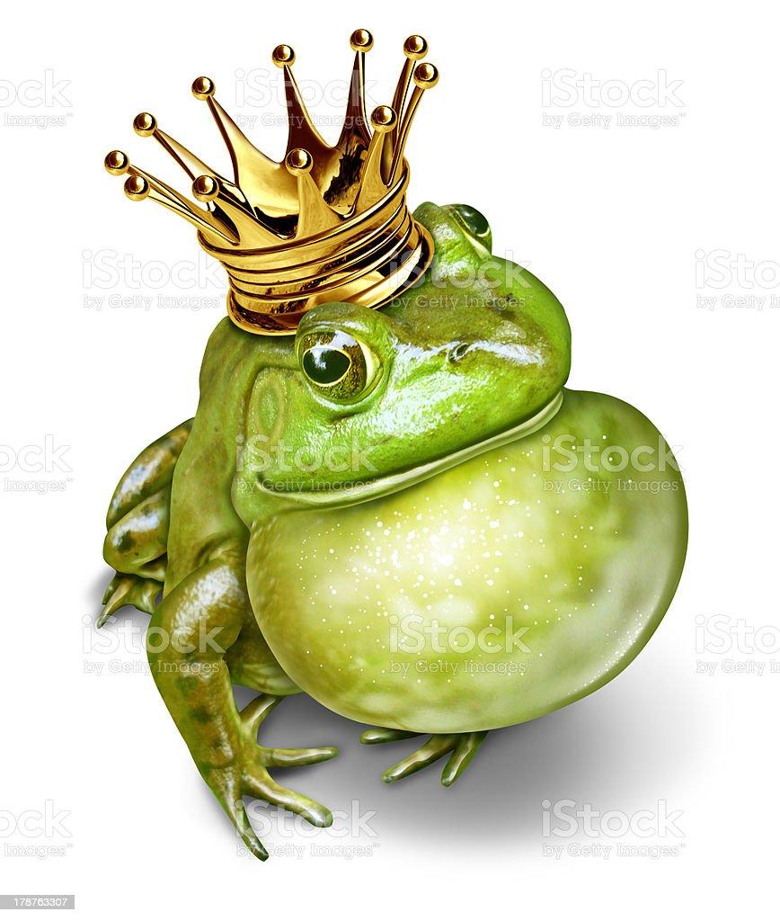 Frog Prince Communication stock photo