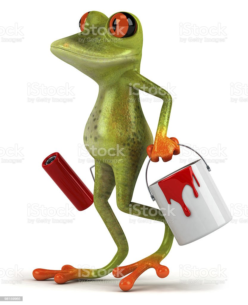 Frog with paint royalty-free stock photo