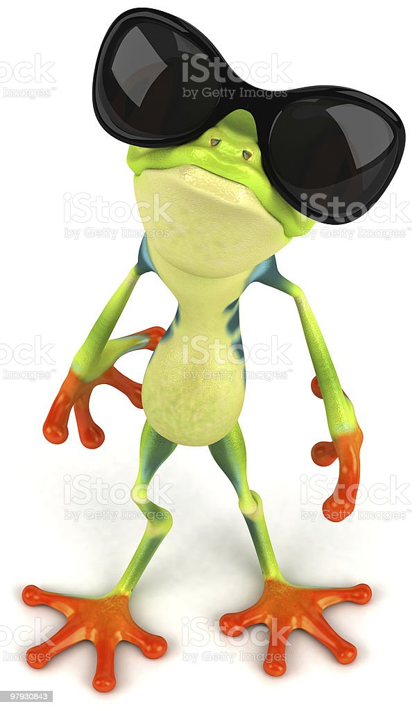 Frog with sunglasses royalty-free stock photo