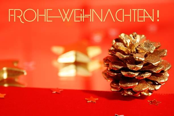frohe weihnachten - merry christmas in german - weihnachten stok fotoğraflar ve resimler