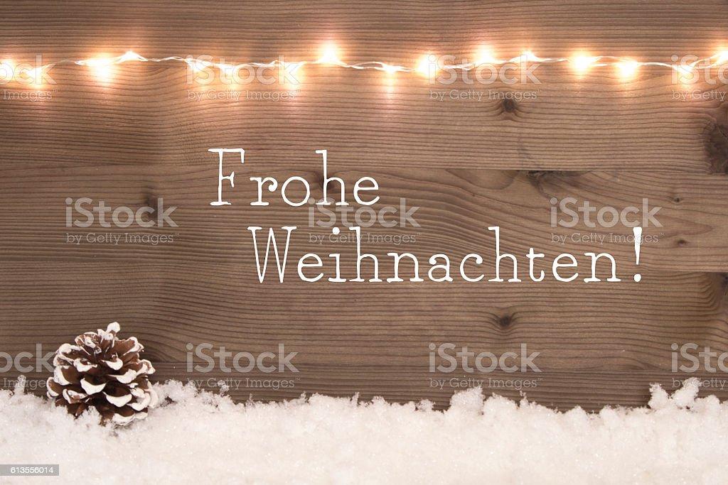 Frohe Weihnachten - Merry Christmas in german stock photo