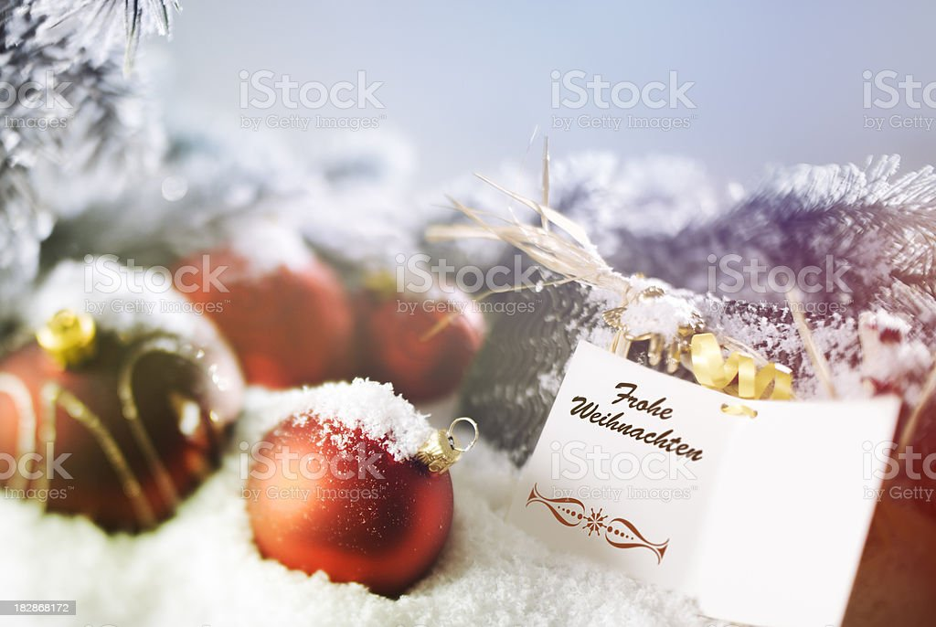 Frohe Weihnachten - Merry Christmas royalty-free stock photo