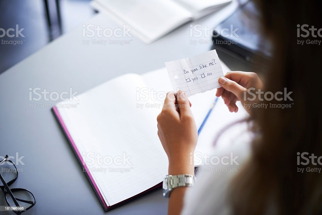 From a secret admirer stock photo