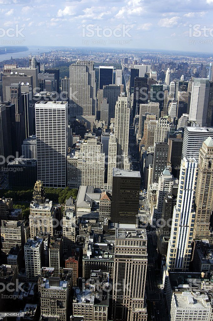NYC from above 05 stock photo