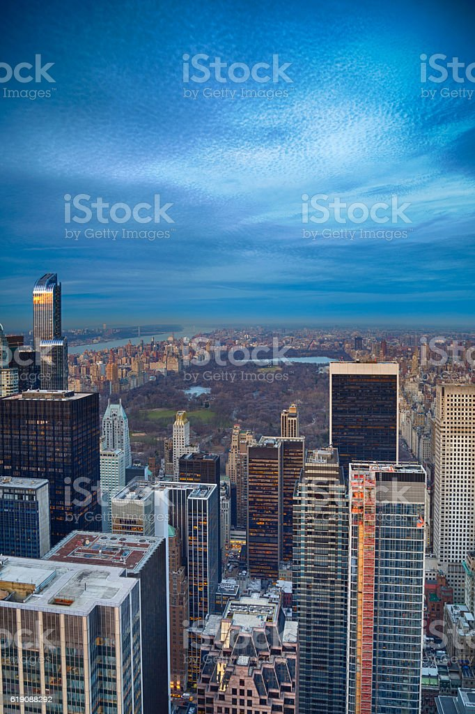NYC from above stock photo