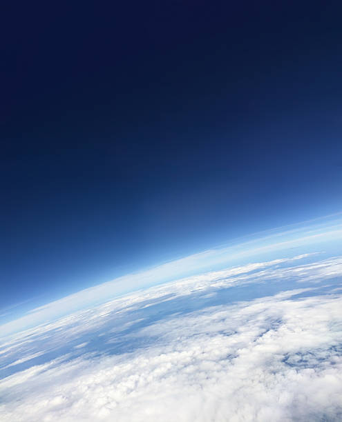 from above the sky - stratosphere stock pictures, royalty-free photos & images