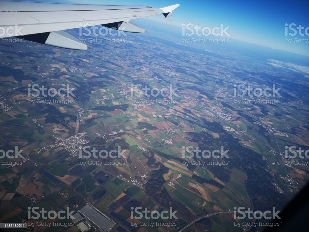 From above view. City pattern, infrastructure and environment. Green...