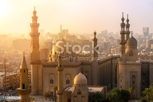 From above view of the Mosques of Sultan Hassan and Al-Rifai.